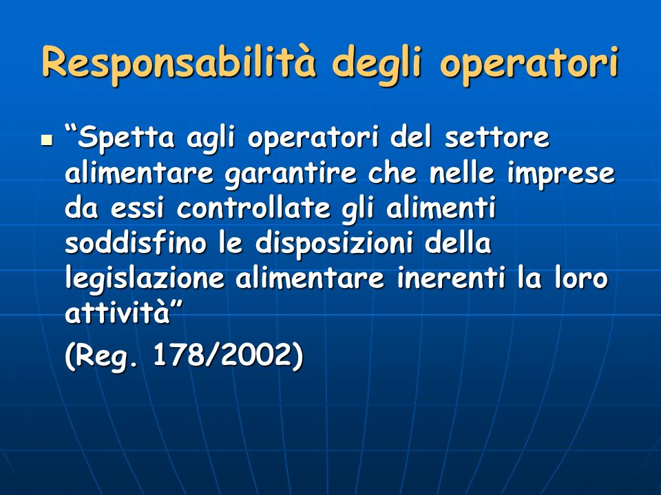 Responsabilità degli operatori