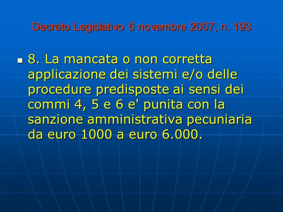 Decreto Legislativo 6 novembre 2007, n. 193