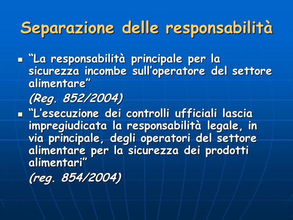 Separazione delle responsabilità