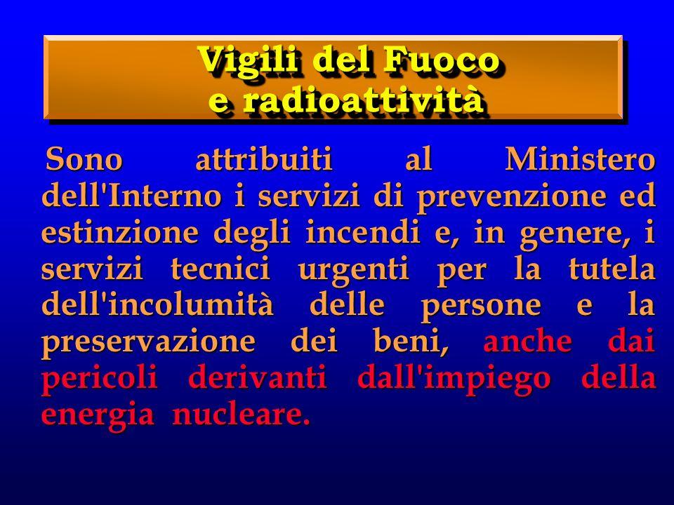 Vigili del Fuoco e radioattività