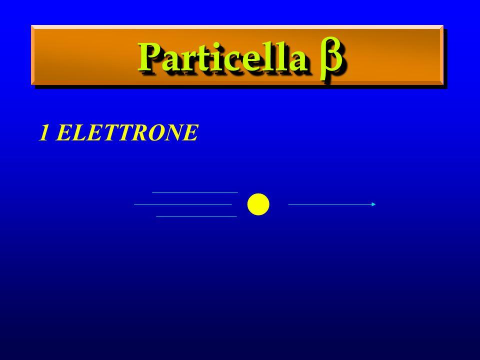 Particella  . 1 ELETTRONE