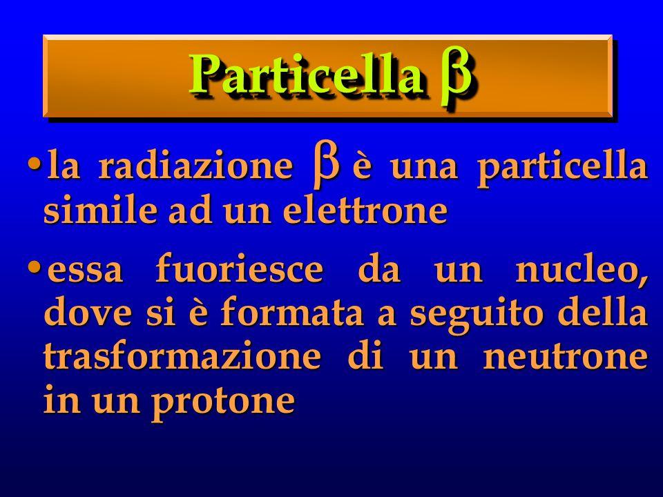 Particella  la radiazione è una particella simile ad un elettrone