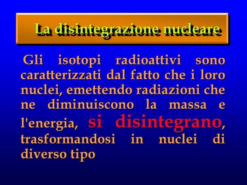 La disintegrazione nucleare
