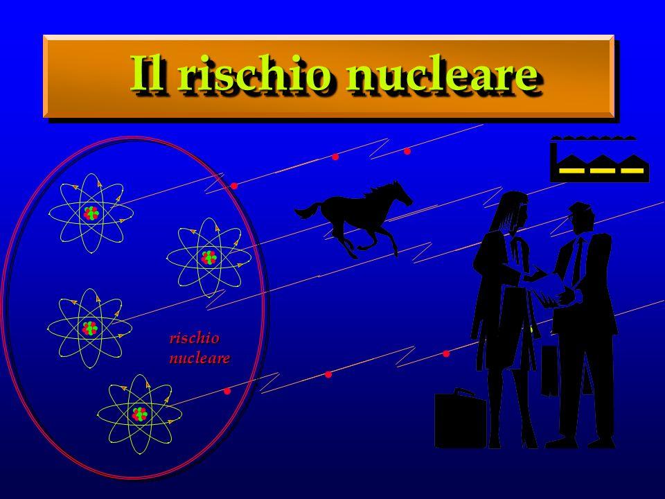 Il rischio nucleare . . . . . . . . . . . . . . . . . . . . . . . . . . .