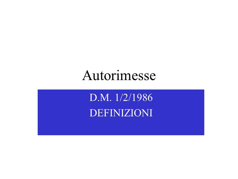 Autorimesse D.M. 1/2/1986 DEFINIZIONI