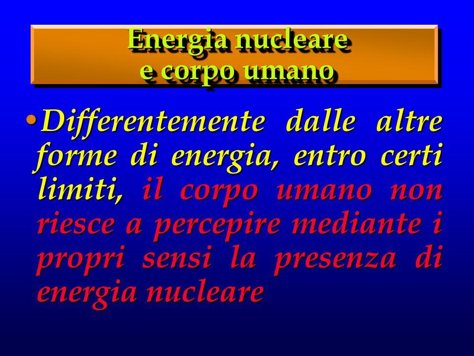 Energia nucleare e corpo umano.