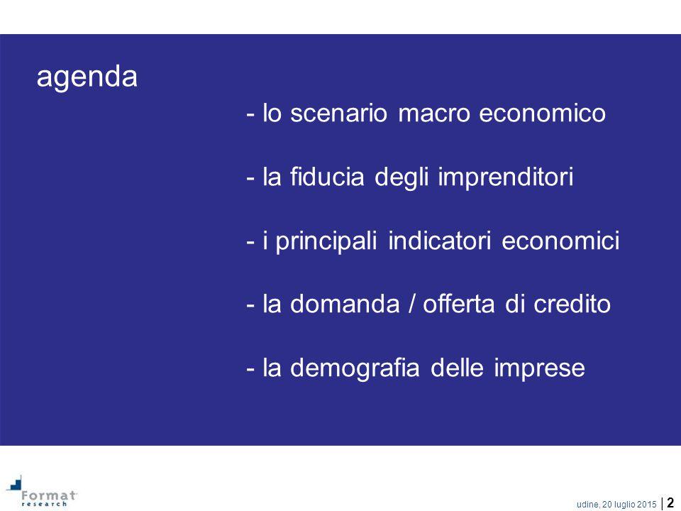 agenda - lo scenario macro economico - la fiducia degli imprenditori