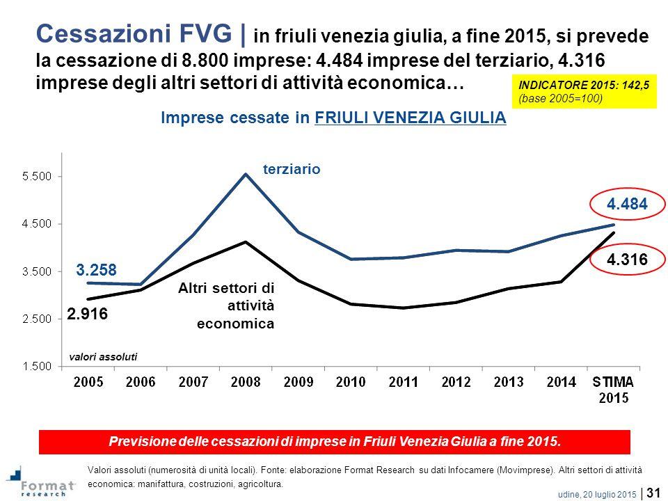 Imprese cessate in FRIULI VENEZIA GIULIA
