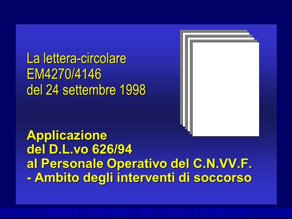 La lettera-circolare EM4270/4146 del 24 settembre 1998