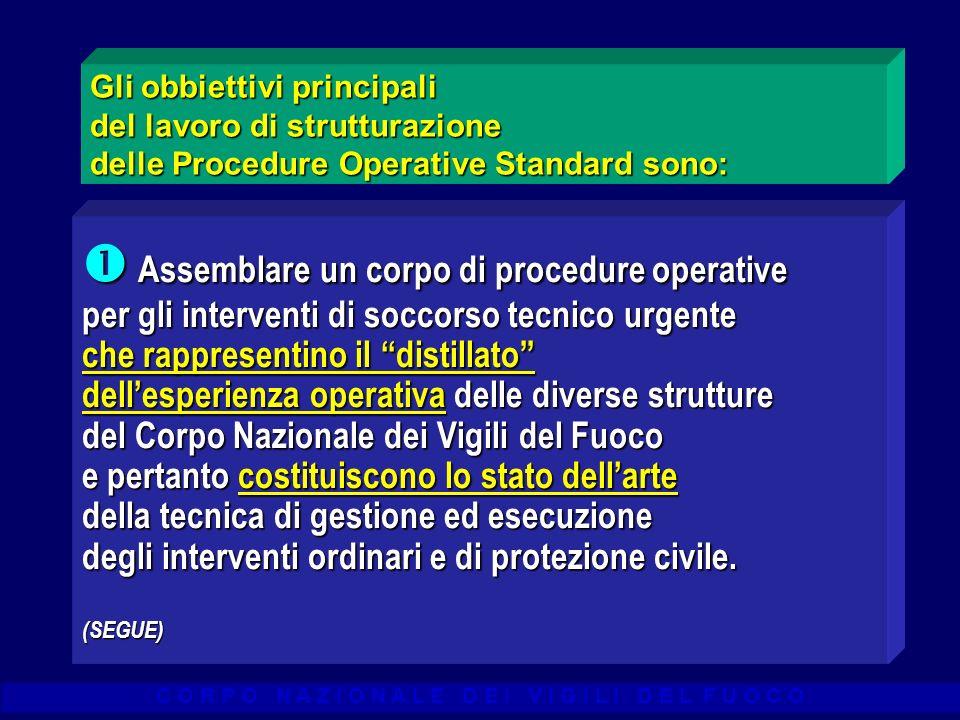 Gli obbiettivi principali del lavoro di strutturazione delle Procedure Operative Standard sono: