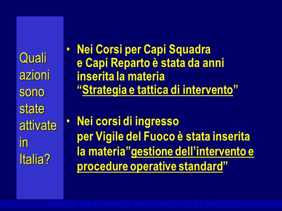 Quali azioni sono state attivate in Italia