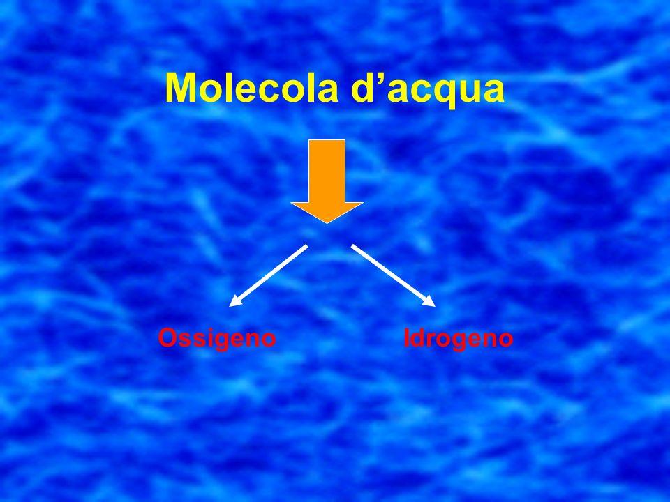 Molecola d'acqua Ossigeno Idrogeno