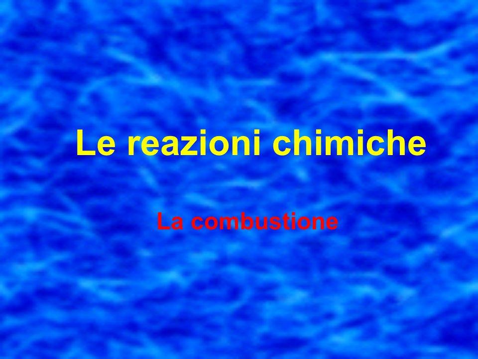 Le reazioni chimiche La combustione