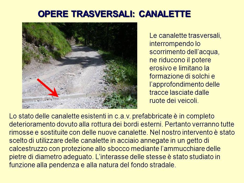 OPERE TRASVERSALI: CANALETTE