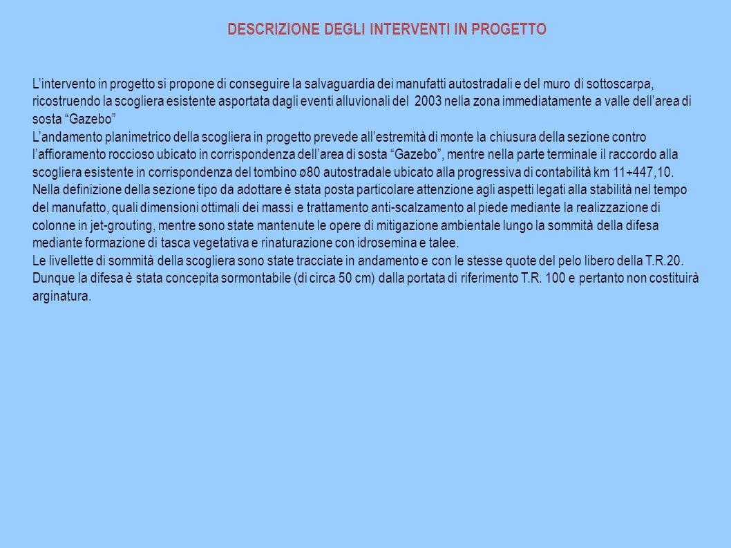 DESCRIZIONE DEGLI INTERVENTI IN PROGETTO