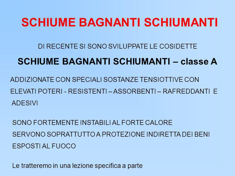 SCHIUME BAGNANTI SCHIUMANTI SCHIUME BAGNANTI SCHIUMANTI – classe A