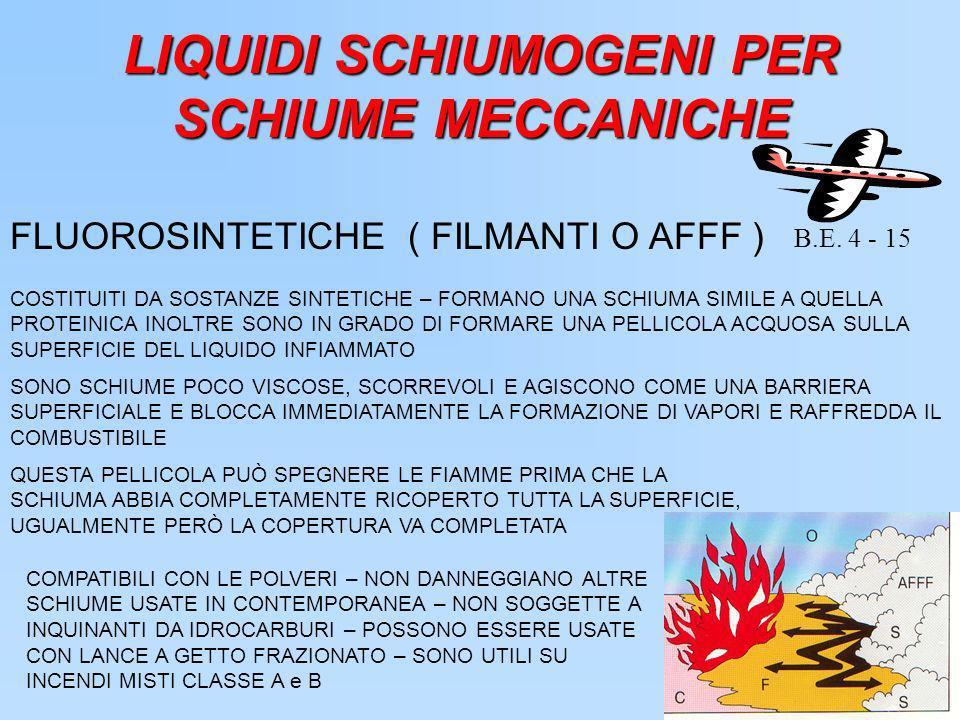 LIQUIDI SCHIUMOGENI PER SCHIUME MECCANICHE