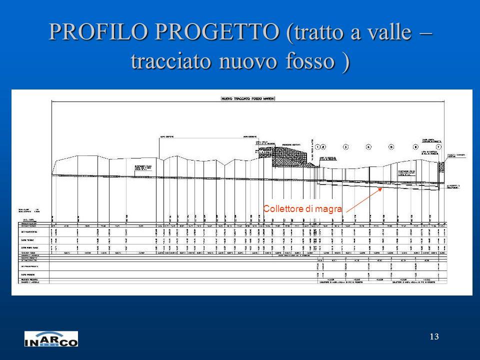 PROFILO PROGETTO (tratto a valle – tracciato nuovo fosso )