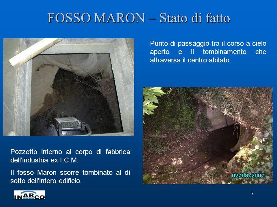 FOSSO MARON – Stato di fatto