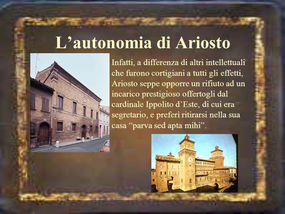 L'autonomia di Ariosto