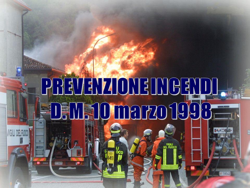 PREVENZIONE INCENDI D. M. 10 marzo 1998
