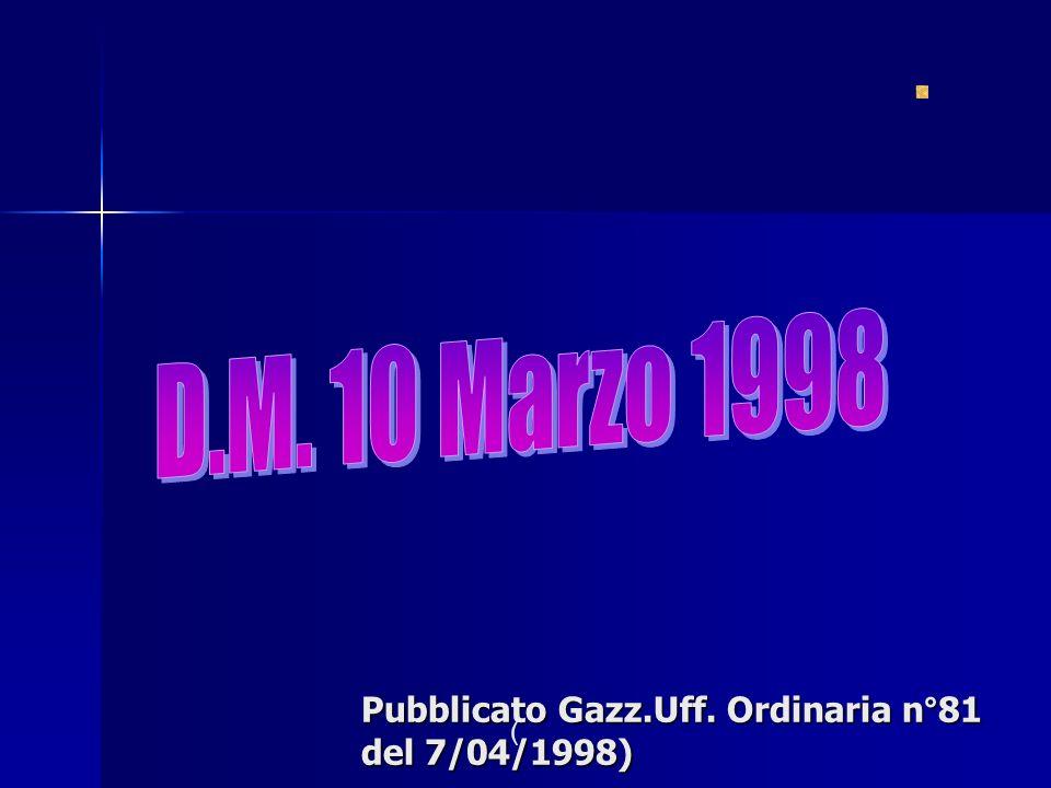 Pubblicato Gazz.Uff. Ordinaria n°81 del 7/04/1998)