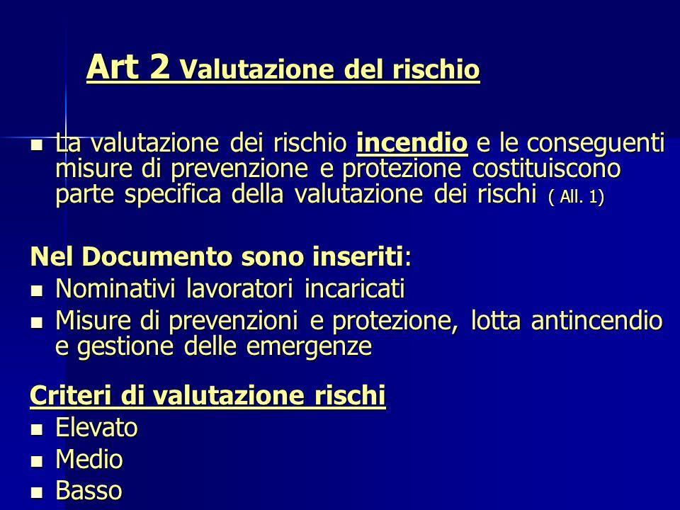 Art 2 Valutazione del rischio