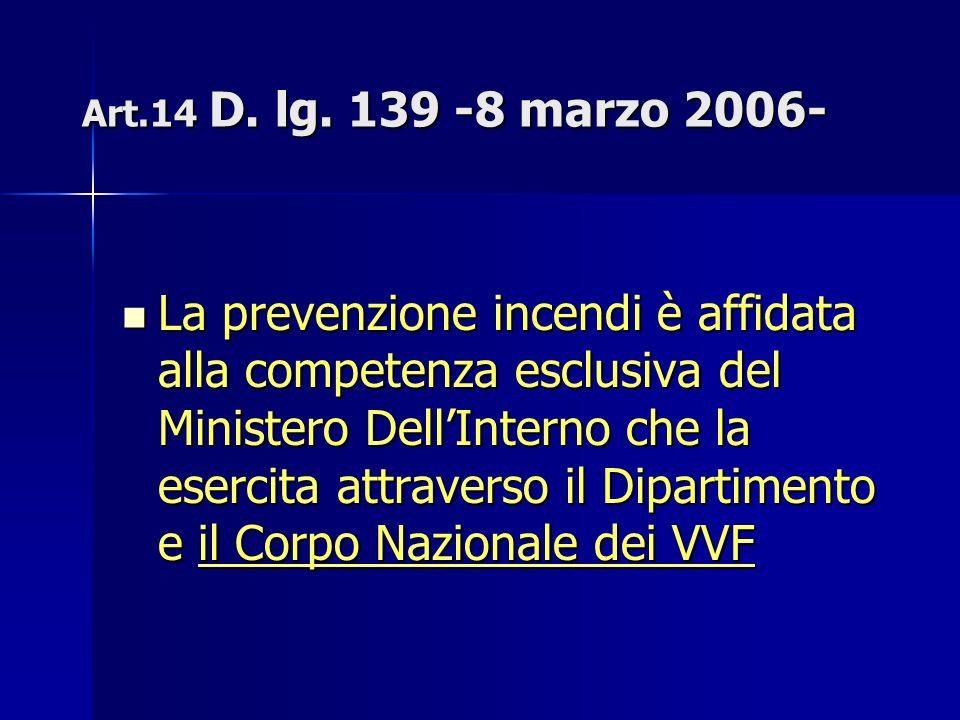 Art.14 D. lg. 139 -8 marzo 2006-
