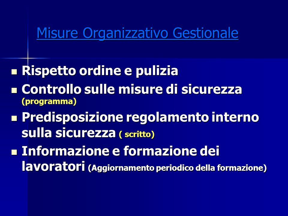 Misure Organizzativo Gestionale