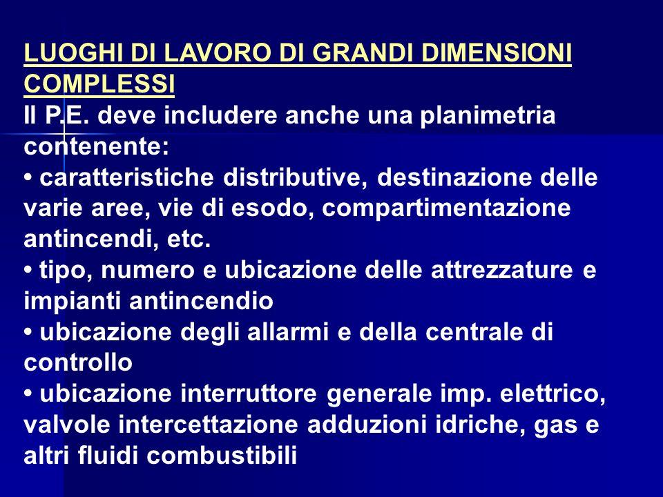 LUOGHI DI LAVORO DI GRANDI DIMENSIONI COMPLESSI
