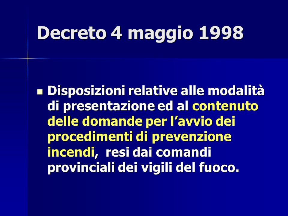 Decreto 4 maggio 1998