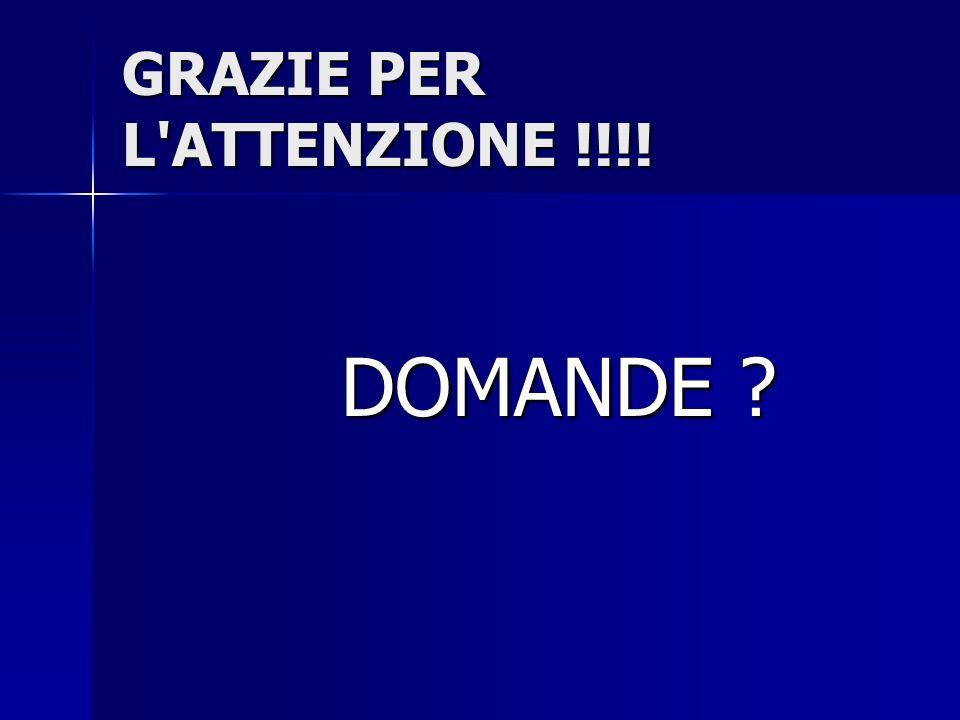 GRAZIE PER L ATTENZIONE !!!!
