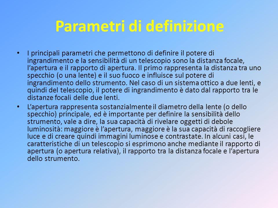 Parametri di definizione