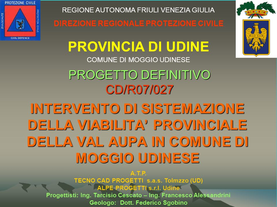 PROGETTO DEFINITIVO CD/R07/027