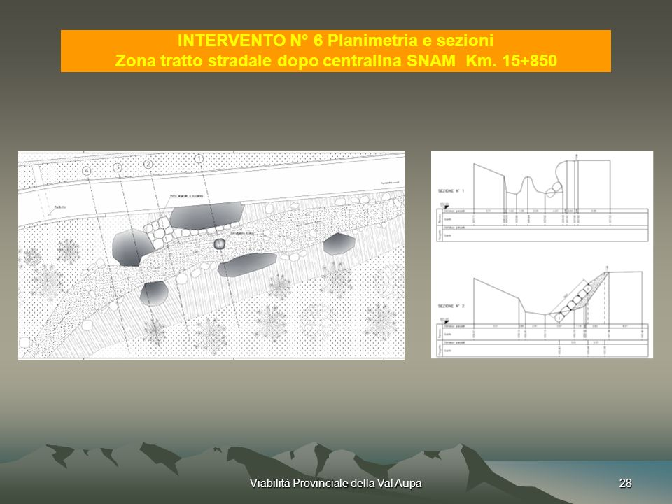 INTERVENTO N° 6 Planimetria e sezioni