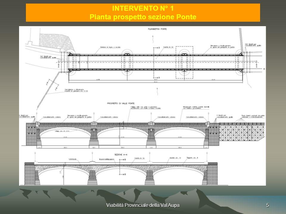 Pianta prospetto sezione Ponte
