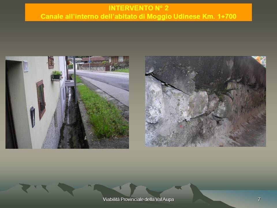 Canale all'interno dell'abitato di Moggio Udinese Km. 1+700