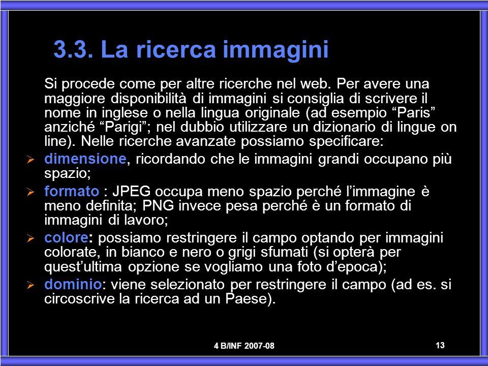 3.3. La ricerca immagini