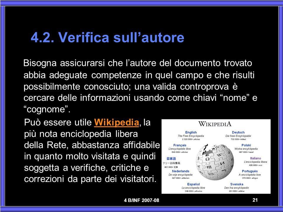4.2. Verifica sull'autore