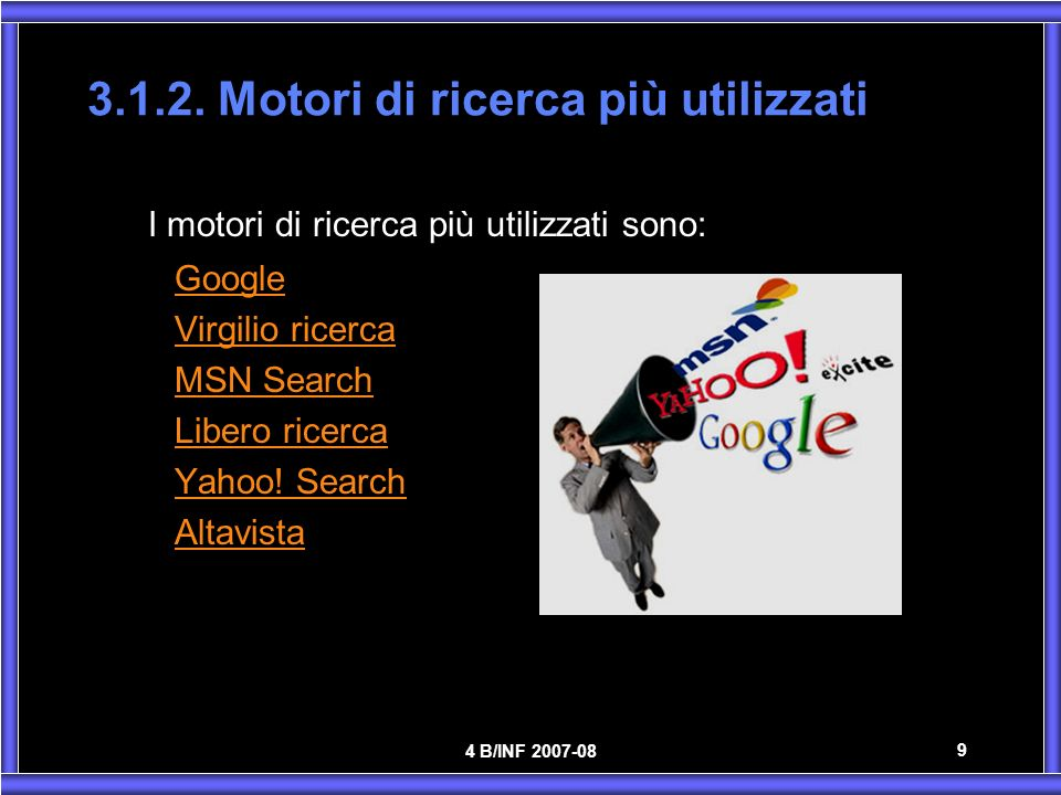 3.1.2. Motori di ricerca più utilizzati