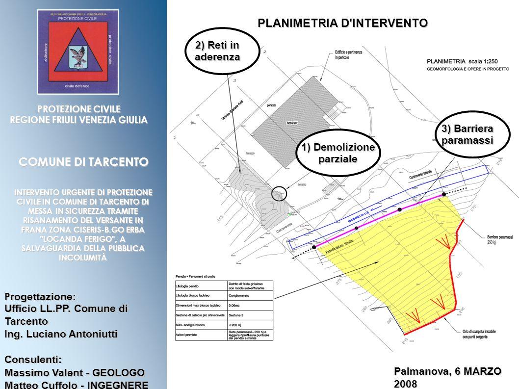 PLANIMETRIA D INTERVENTO
