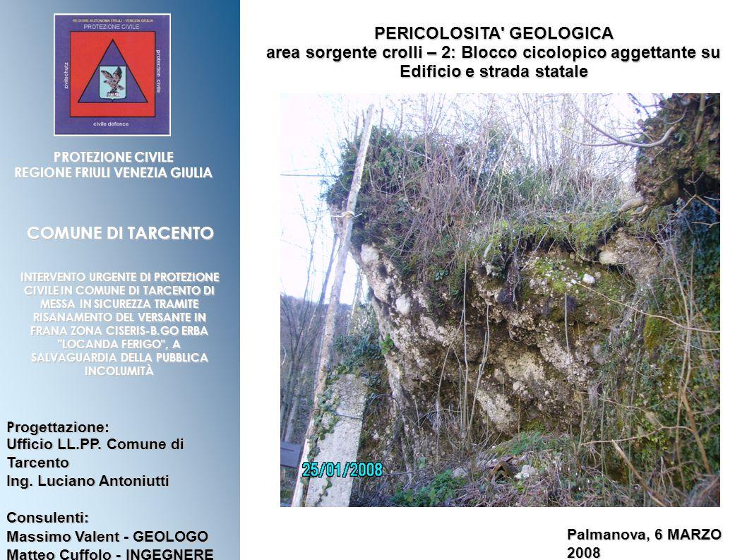 PERICOLOSITA GEOLOGICA REGIONE FRIULI VENEZIA GIULIA