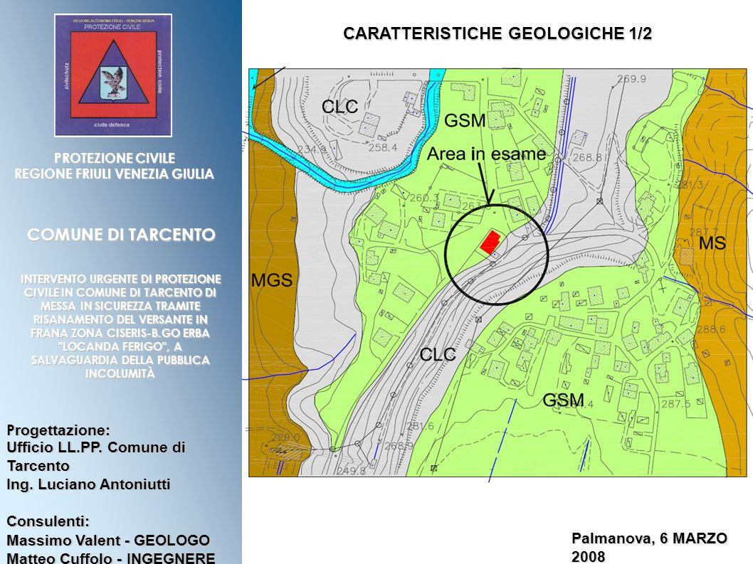 CARATTERISTICHE GEOLOGICHE 1/2 REGIONE FRIULI VENEZIA GIULIA