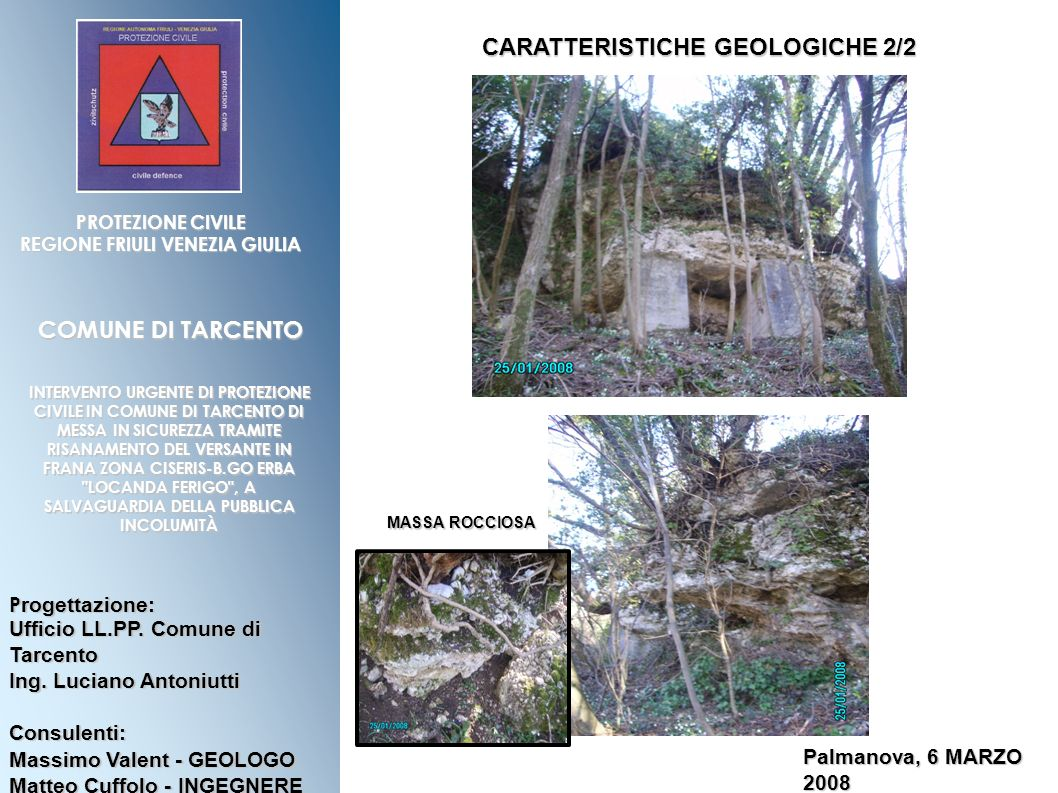 CARATTERISTICHE GEOLOGICHE 2/2 REGIONE FRIULI VENEZIA GIULIA