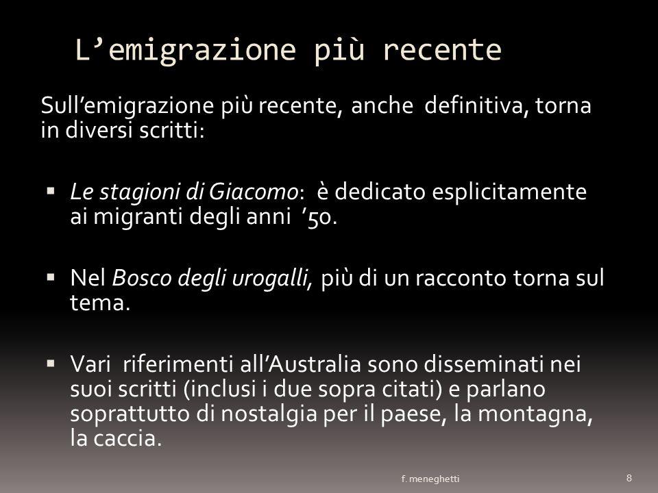 L'emigrazione più recente
