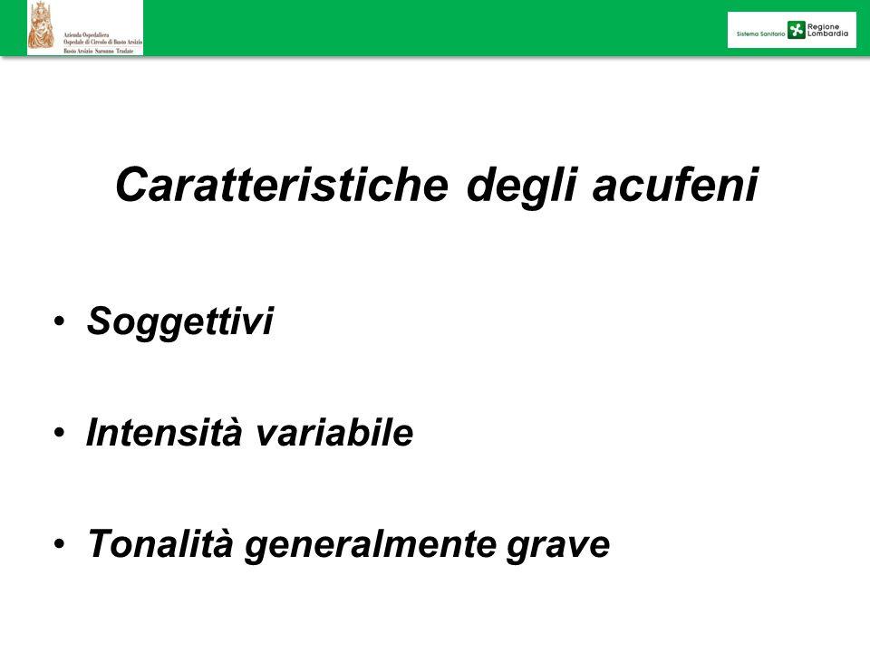 Caratteristiche degli acufeni