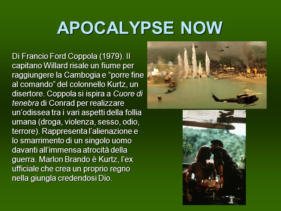 APOCALYPSE NOW Di Francio Ford Coppola (1979). Il