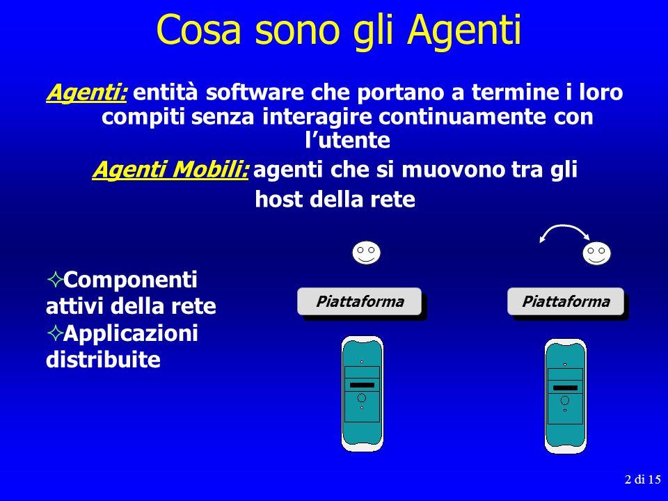 Agenti Mobili: agenti che si muovono tra gli
