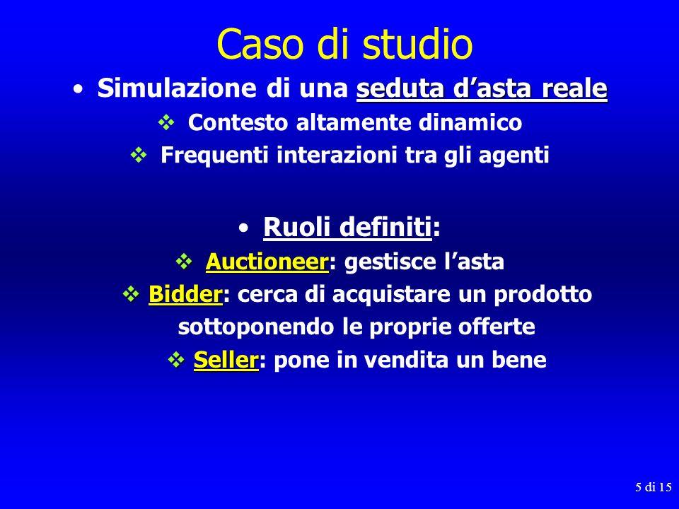 Caso di studio Simulazione di una seduta d'asta reale Ruoli definiti: