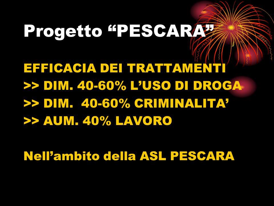 Progetto PESCARA EFFICACIA DEI TRATTAMENTI
